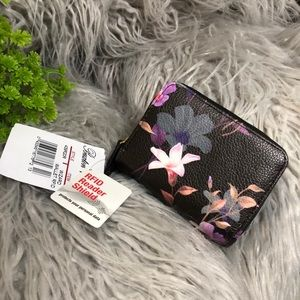 NWT floral wallet with RFID reader shield